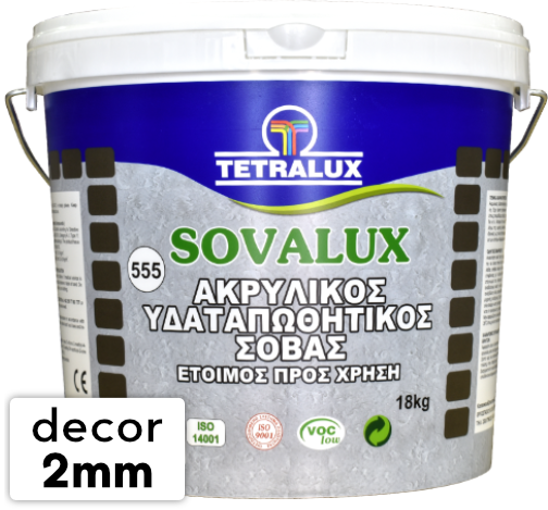 SOVALUX DECOR 2 mm acrylic plaster