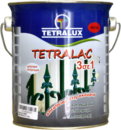 Tetralac 3 IN 1 direct to metal enamel